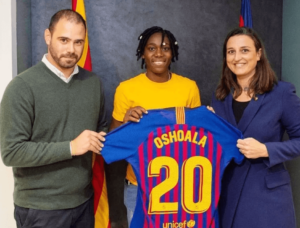 Asisat signs for Barcelona