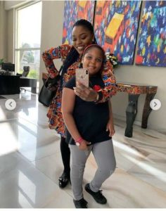 Bisola and daughter