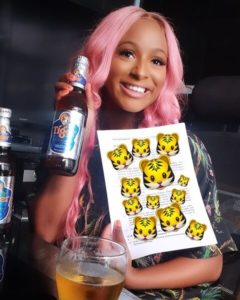 DJ Cuppy endorsement deal with Tiger beer