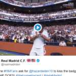 Real Madrid Finally Unveils Eden Hazard Before Fans