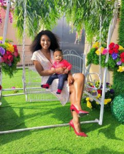 Powede Awujo and her child