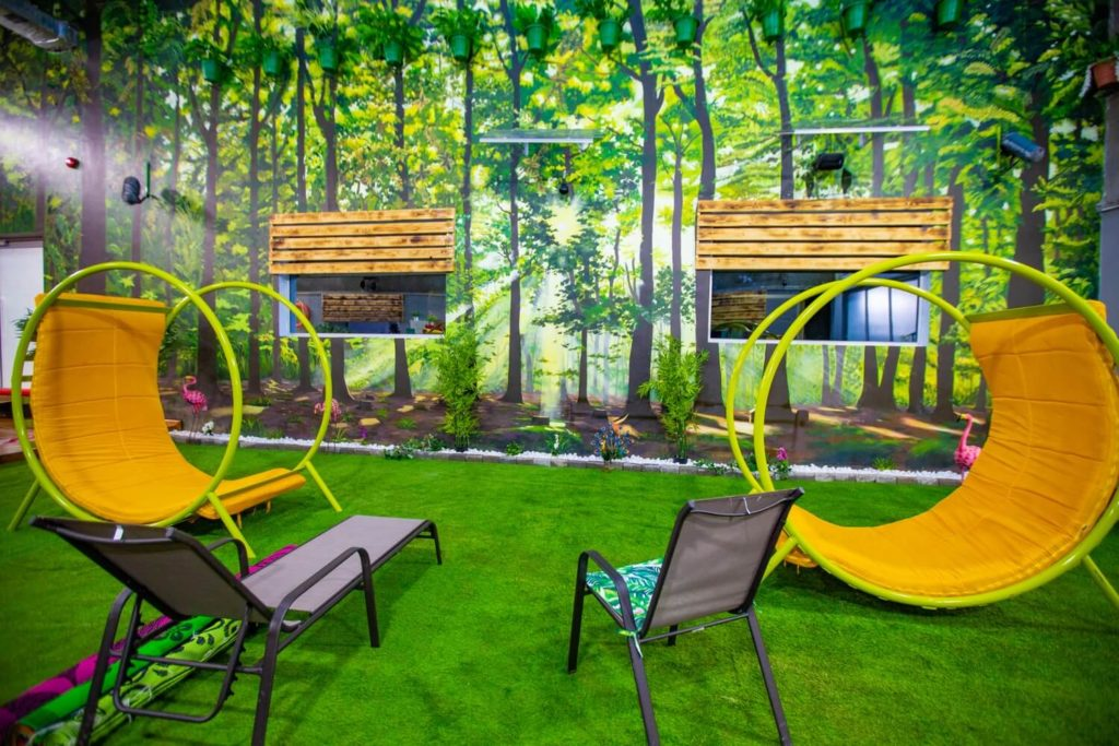 BBNaija Pepper Dem House - Garden