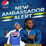 Music Stars, Burna Boy And Teni Unveiled As New Pepsi Ambassadors