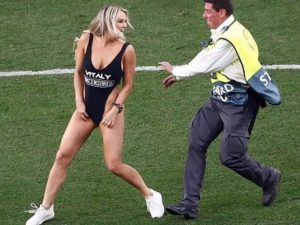 Kinsey Wolanski at the Champions league final