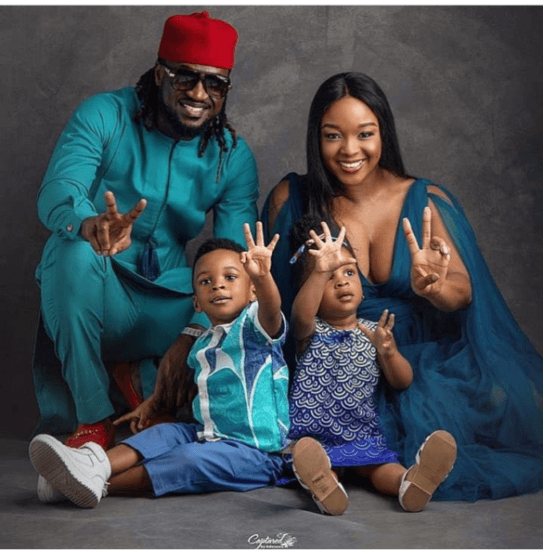 Paul Okoye and wife celebrates twins 2nd birthday