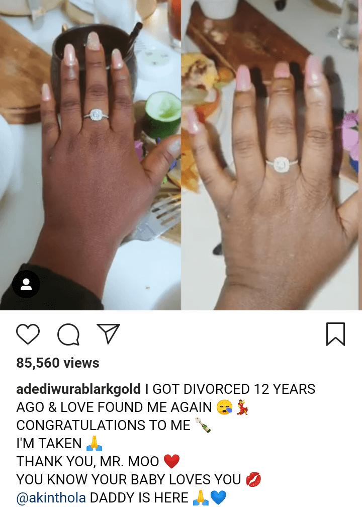 Actress Adediwura Gold gets engaged after 12 years