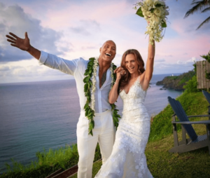 The Rock marries longtime girlfriend (photos)