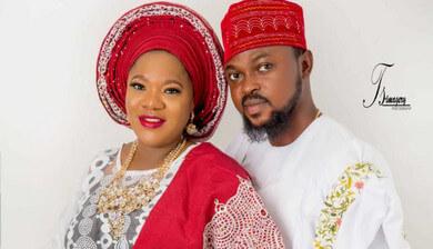 Kolawole Ajeyemi and wife, Toyin Abraham