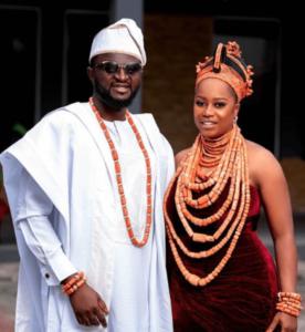 Tee Y Mix and wife traditional wedding