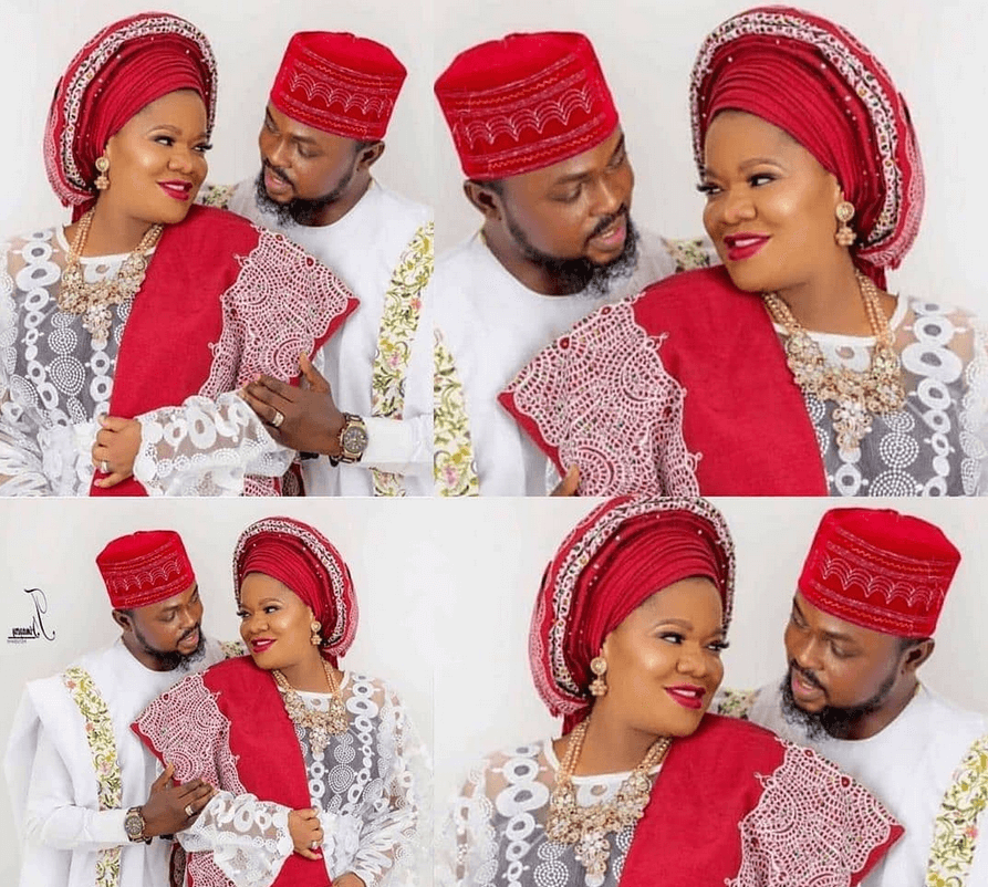 Toyin Abraham and her husband pictures