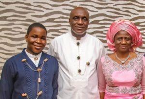 David Ibiyeomie and family photo