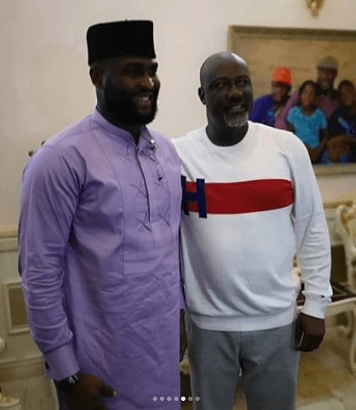 Dino Melaye and Nelson photo