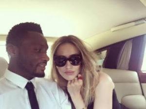 Mikel Obi and his partner Olga photo