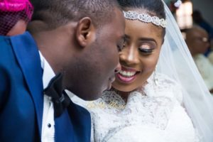Benita Okojie and husband wedding photo