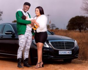 Tino Chinyani and Simphiwe Ngena with their baby