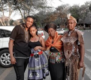 Andiswa Selepe, fiance and parents