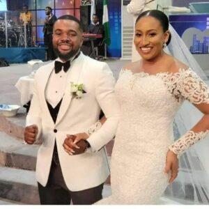 Brunella Oscar and Williams Uchemba wedding photo